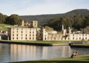 Remains of the convict barracks at Port Arthur, Tasmania