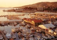 Overlooking Hobart Harbour at sunrise