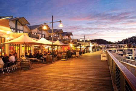 Waterfront dining in Launceston at Dusk