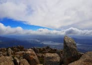 Atop Mt Wellington in Hobart